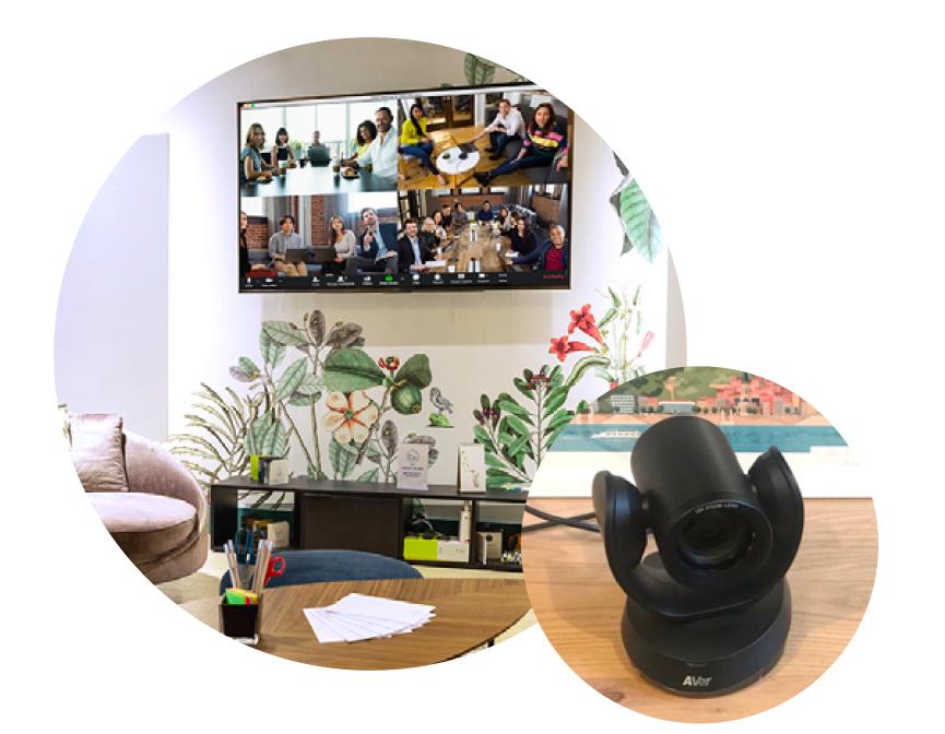 La bulle pack réunion hybride caméra et micro déportés